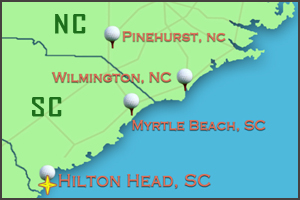 Map of Hilton Head | Golf Packages in Hilton Head