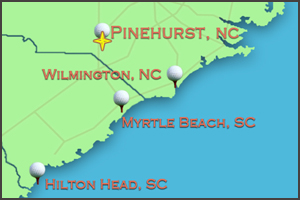 Map of Pinehurst NC | Pinehurst Golf Packages